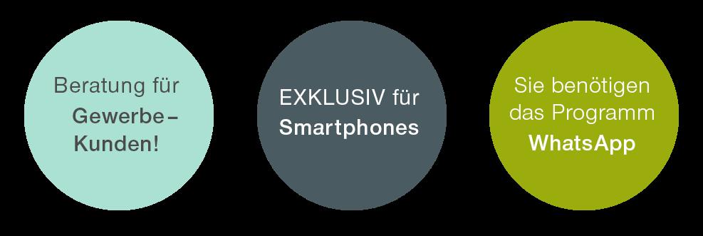 Exklusiv für Smartphone mit WhatsApp