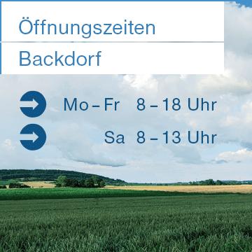 Backdorf Öffnungszeiten