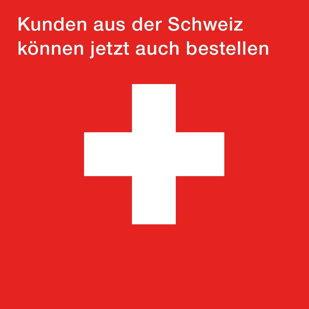 Kunden aus der Schweiz können jetzt auch bestellen