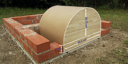 Materialauswahl beim Holzbackofen-Bausatz