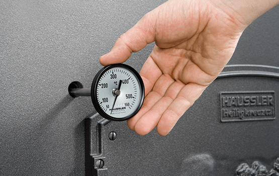 Bimetall-Zeigerthermometer für den Holzbackofen