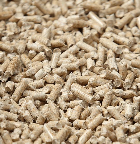 Der HABO-Pellet wird mit naturreinen Holzpellets beheizt.