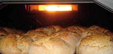 Befeuerung von der Ofenrückseite