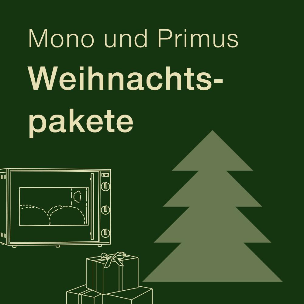 Weihnachtspakete Mono und Primus