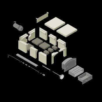 Wood-burning oven kits