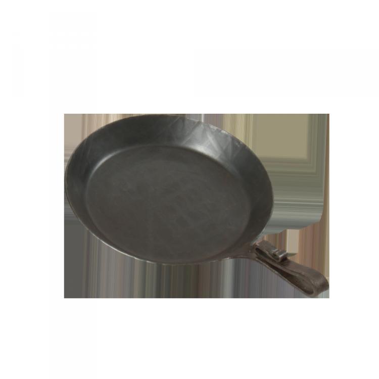 Eisenpfanne mit Schnabelstiel Pfanne: Ø 23 cm; Boden: Ø 18 cm