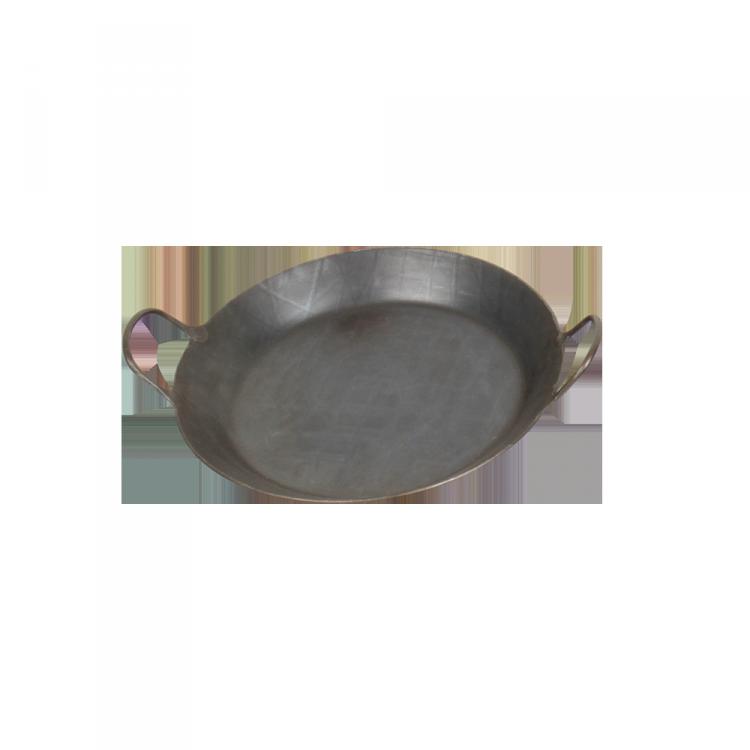 Eisenpfanne mit 2 Griffen Pfanne: Ø 28 cm; Boden: Ø 21 cm