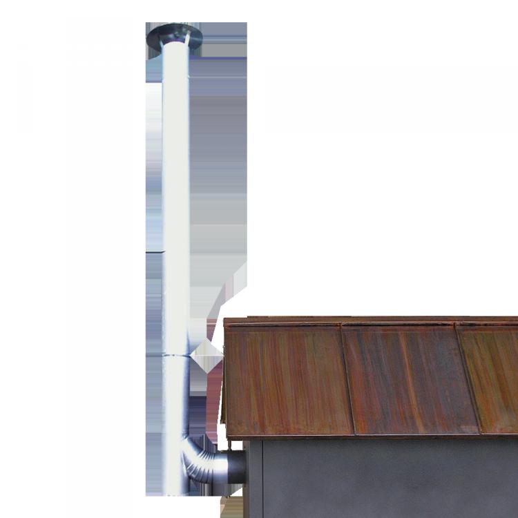 Rauchrohr-Set aluminiert