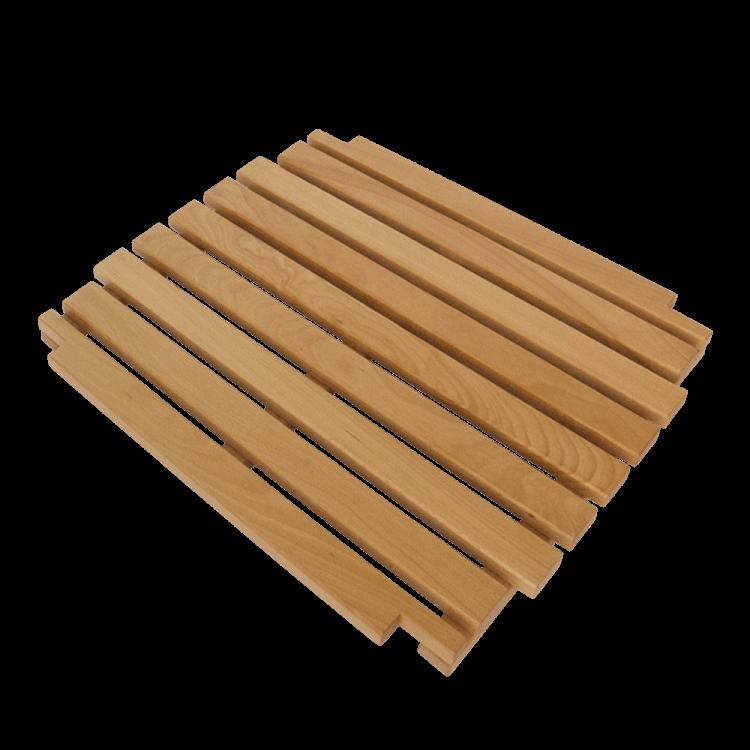 Holzrost als Ablage zum Fußgestell Mono