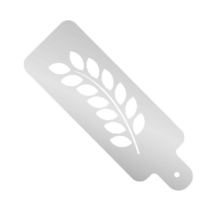 Mehlschablonen mit Motiv – Zweig