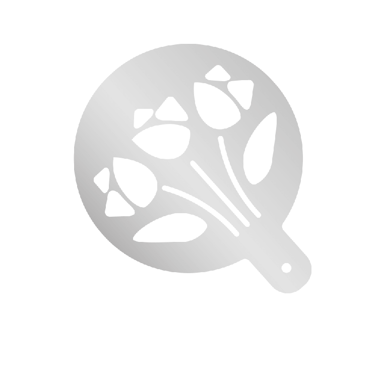 Mehlschablonen mit Motiv – Tulpen