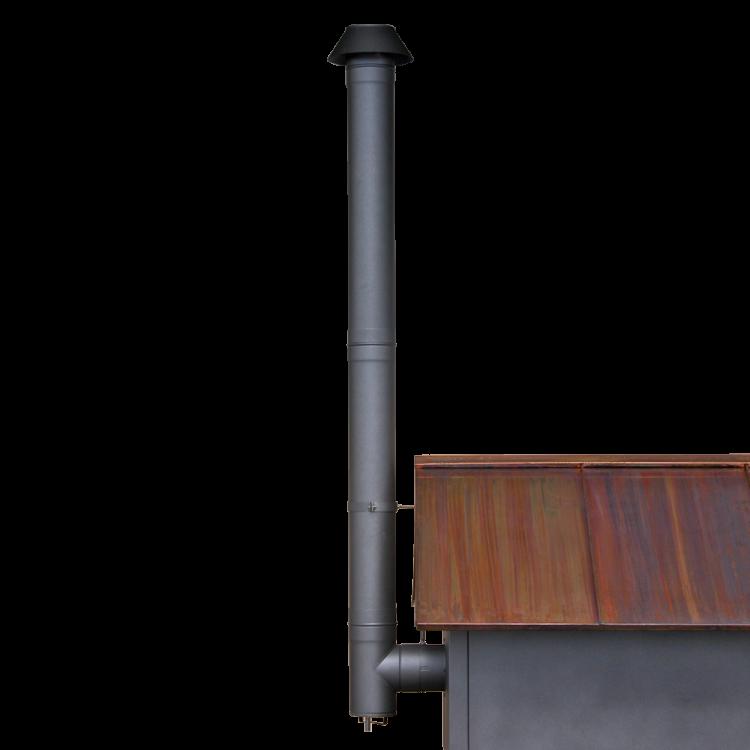 Rauchrohr-Set schwarz lackiert HABO 2/4