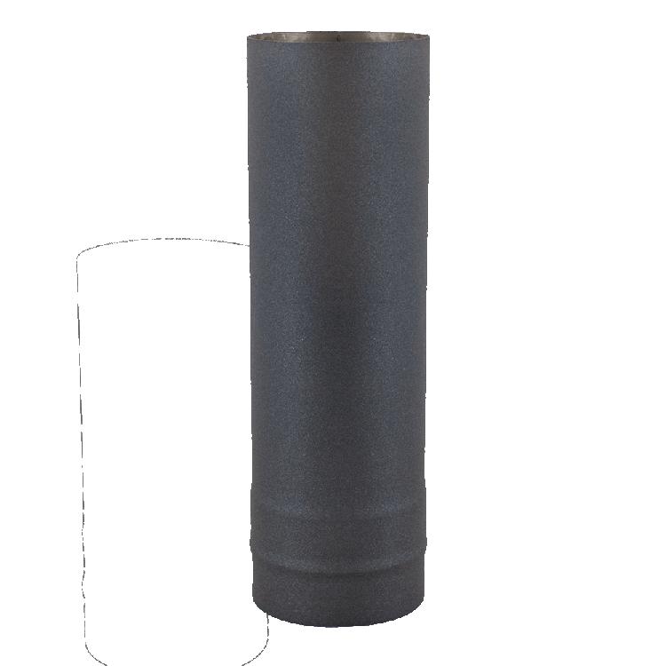Ofenrohre und Zubehör Edelstahl schwarz lackiert Rohr 1,0 m | Ø 15 cm