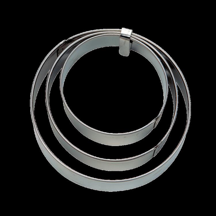 Terrassenausstecher Edelstahl Ringe glatt (3/4/5 cm)