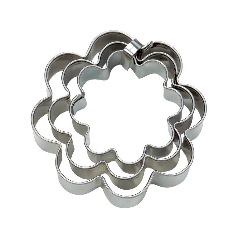 Terrassenausstecher Edelstahl Rosetten (3/4/5 cm)