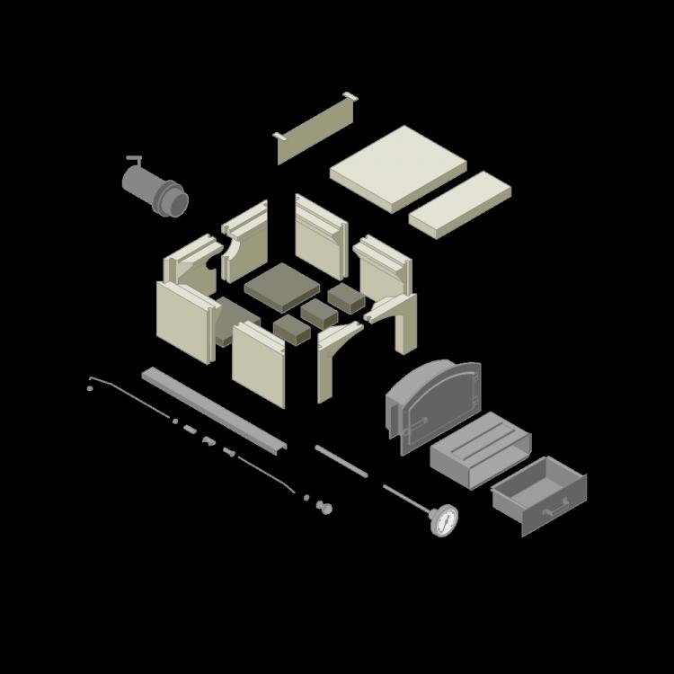 Bausatz Typ 4/6 Türmodell B (ca. 110 x 115 cm)