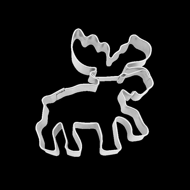 Präge-Ausstecher Weihnachten Elch ca. 7,5 cm
