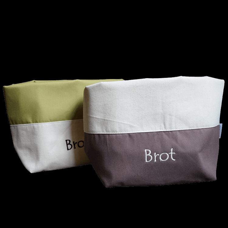 Brottasche Creme Braun