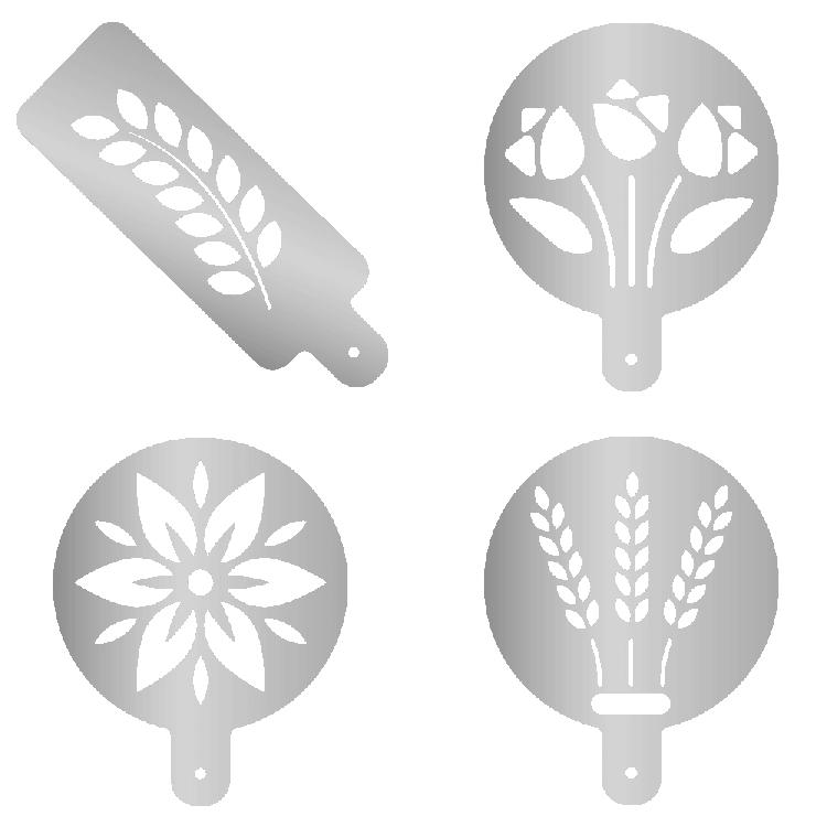 Mehlschablonen mit Motiv