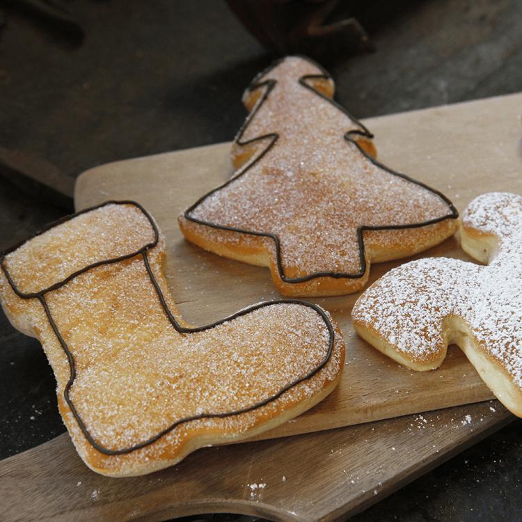 Weihnachtliche Quarkteig-Ausstecher