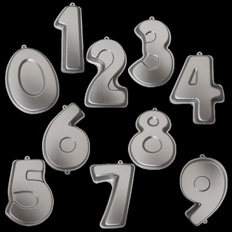 Zahlenbackformen
