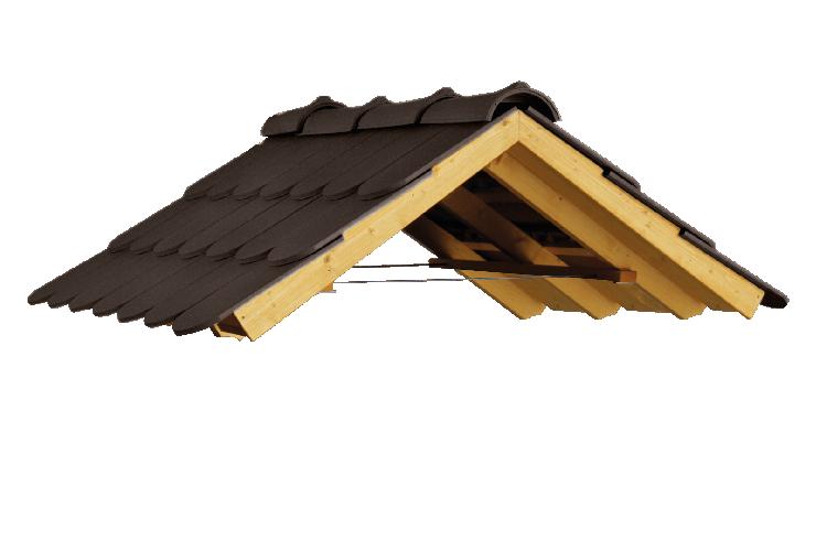 Satteldach Biberschwanz schwarz